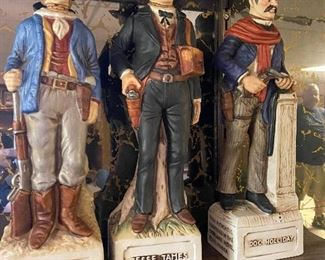 Figural Western Character Decanters