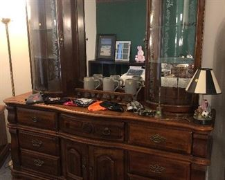 Pretty Dresser with matching Chest of Drawers  and night stand