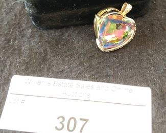 14K Rio Topaz and Diamond pendant