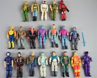 5Grouping of GI Joe Action FiguresA grouping of 20 GI Joe action figures, 5 from the early 1980's, and 15 from the early 1990's. All are in good condition with some minor cosmetic loss.