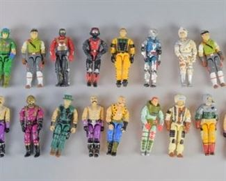 8Grouping of GI Joe Action FiguresA grouping of 23 GI Joe action figures, originally released between 1986 and 1989. All are in good condition with only some minor chipping on a few figures. Arms and legs move fluidly.