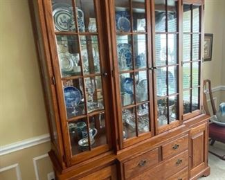 PRICE: $300                                                                                           Dining hutch by Lineage. 69 x 17.5 x 85 & I LIGHT UP!