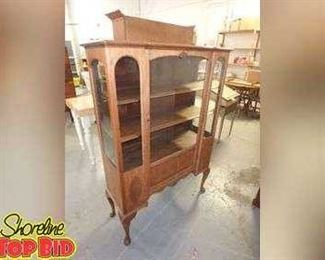 Antique Walnut 3Tier Display Cabinet