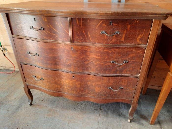 Tiger Oak Antique Dresser