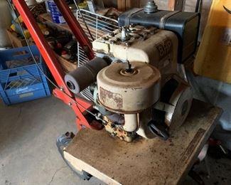 Gas powered tiller