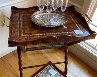 Leather Maitland Smith Tray Table $750