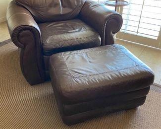 nailhead leather armchair