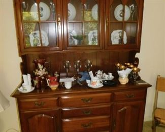 Cherry Step Back China Cabinet