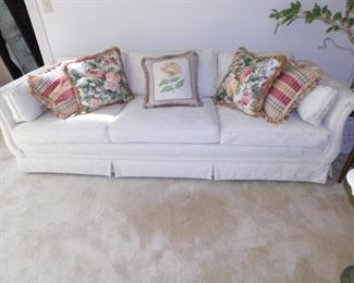White Damask Sofa