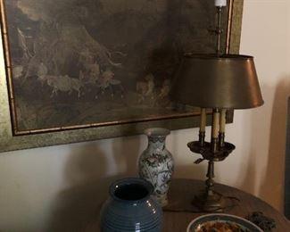 artwork and Thea lamp