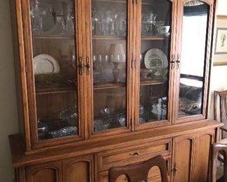 Another angle of the China cabinet