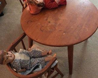 child's antique table