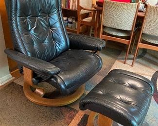 Original Ekornes Stressless chair with ottoman.