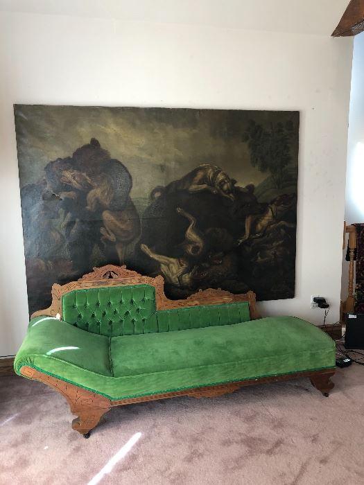 Victorian fainting chair