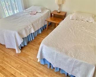 6- $100 Twin beds (2) older mattresses