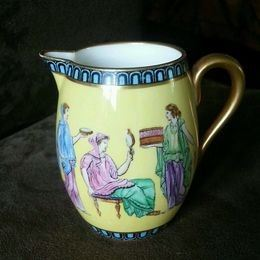 Antique TIFFANY & CO. & COPELANDS ENGLAND CREAMER HAND PAINTED.  EXCELLENT CONDITION RARE!  $125.00