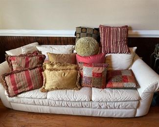 Sofa not for sale, decorator pillows are :)