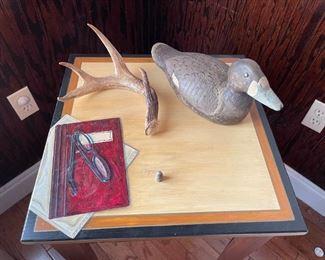 Vintage hand carved decoy, deer antler.