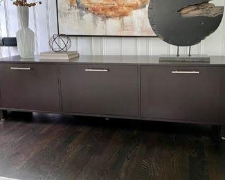 High end wood Modern media cabinet