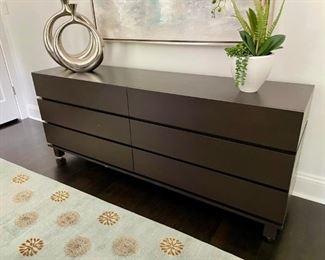 High end solid wood modern 6 drawer dresser