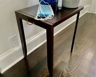 1 of 2 modern shapely nesting side tables