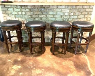4 Frontgate swivel barstools