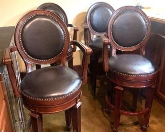 4 Frontgate swivel barstools (with backs & arms)
