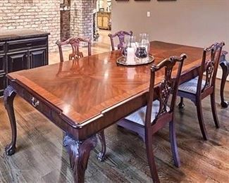 Henkel Harris dining table & 4 chairs