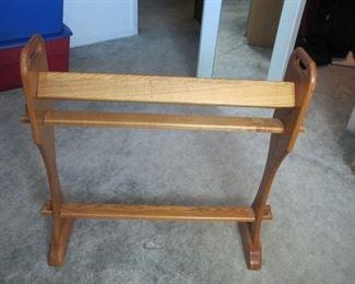Custom oak blanket rail