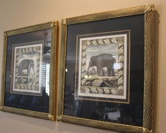 Elephant prints - custom frames