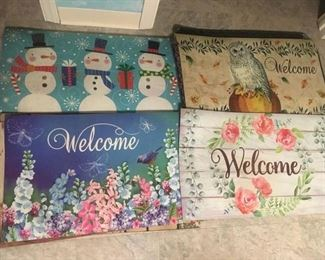 "MANY Seasonal &  Colorful ""Welcome"" Mats"