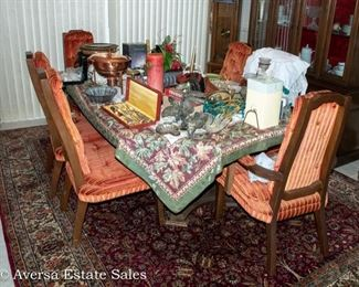 1960s Dining Set with six chairs