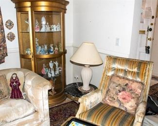 Curio Cabinet - Accent Tables - Lamps - Armchairs