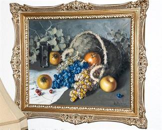 Beautiful Still Life Oil on Canvas
