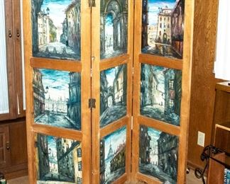 Room Dividers with painted panels by Firmin Santos