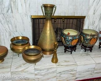 Brass and Asian Decor