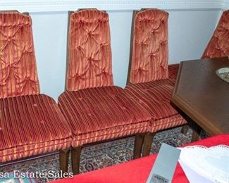 FABULOUS 1960s Velour Dining Chairs