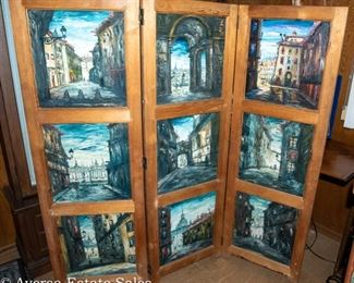 Room Divider - painted panels by Firmin Santos
