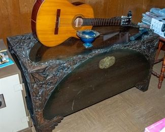 Large Carved Chest -