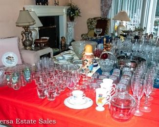 Tables of Glassware and Ceramics