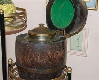 Wood Keg Tobacco Jar