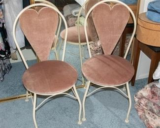 Heart Back Chairs