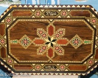 Inlaid Wood Tray