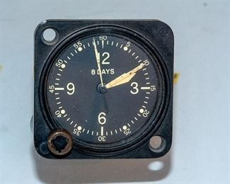 WWII Waltham Clock Co - Aviator Clock