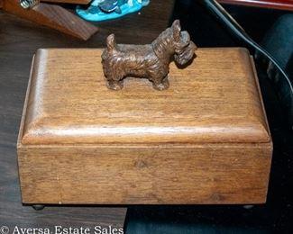 Scotty Dog Wood Box