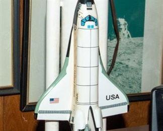 Rockwell International - SPACE SHUTTLE Wood Model  by HALNET
