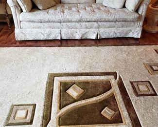 "Sofa & 8 x 11 ""Elsee"" cut carpet"
