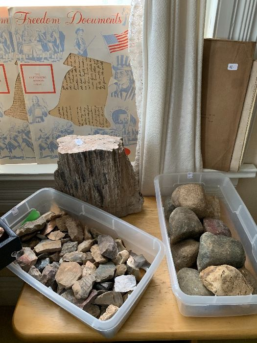 Now for the artifacts.  We have flint shards and Hammer stones.