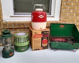 Vintage Coleman camping supplies