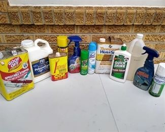Cleaners & other garage chemicals
